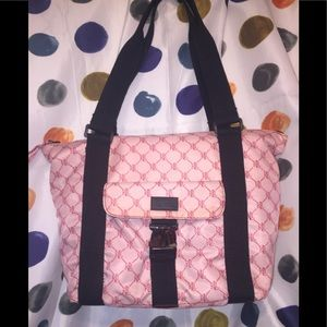 Lauren Ralph Lauren's monogram satchel in pink